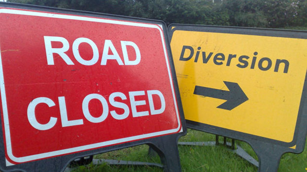 Road closure at Sholing