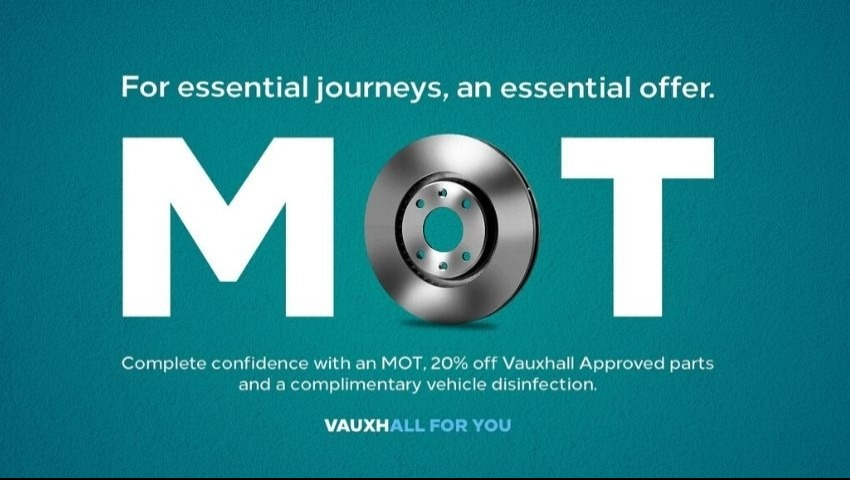20% OFF PARTS WITH MOT