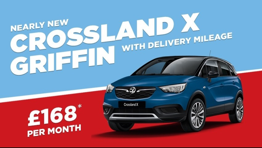NEARLY NEW Crossland X Griffin from £168 a month with £999 deposit.