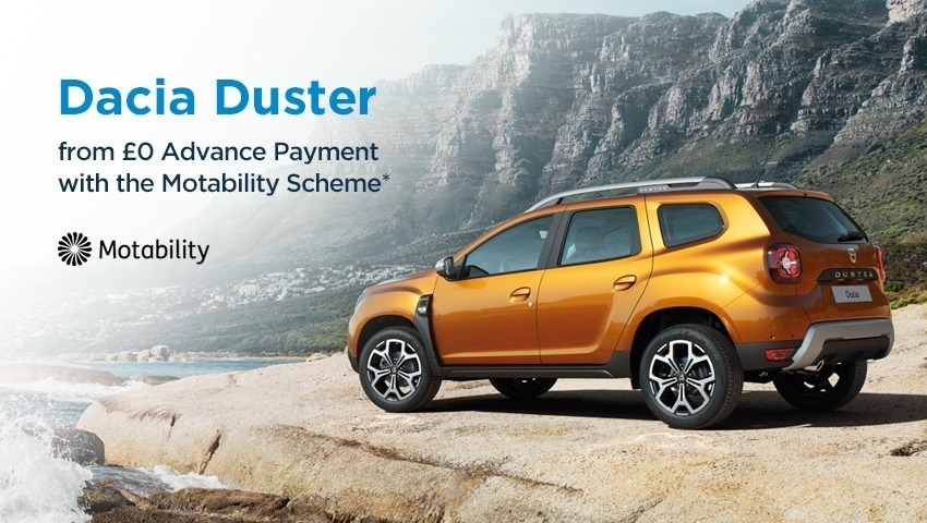 Duster TCe100 £nil on Motability